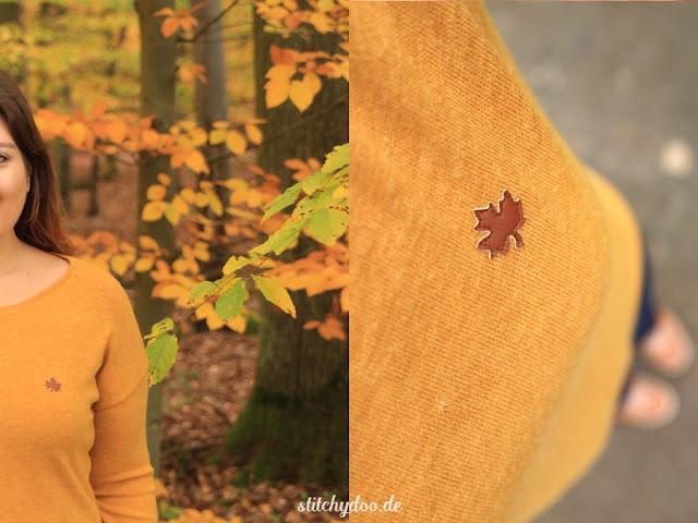 stitchydoo: Senfgelb durch den Herbst | Long Kimono Tee aus Strickstoff