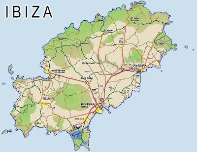 Ibiza Mapa Ciudad de la Región