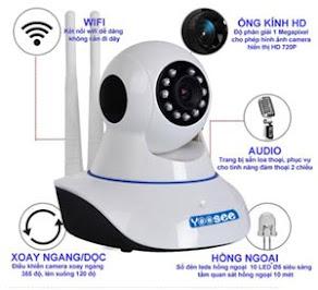 Camera quan sát WIFI giá chỉ 500.000 đ