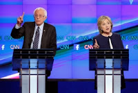 Sanders and Clinton (Photo Credit: AP /John Locher) Click to Enlarge.