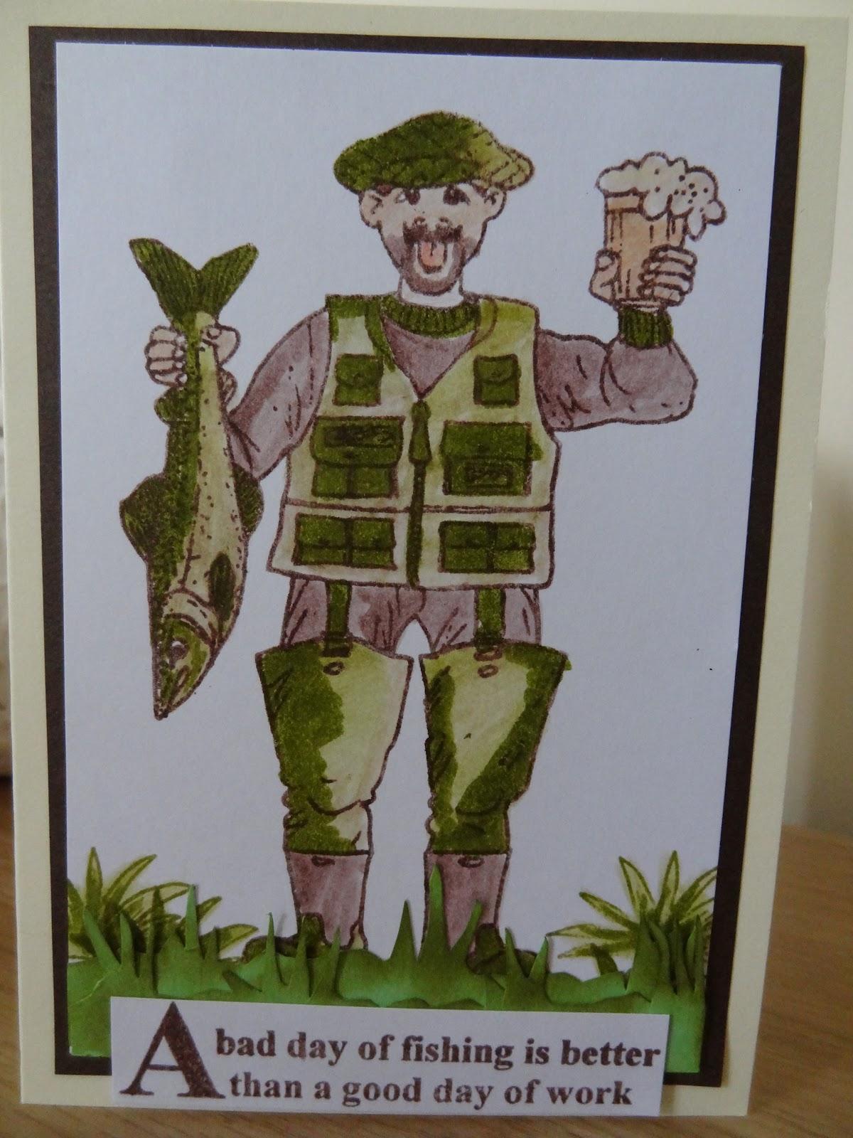 Brilliant Happiness Is Homemade Fishing Birthday Card Funny Birthday Cards Online Benoljebrpdamsfinfo
