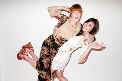 Florence Welch and Daisy Lowe joking around with Terry