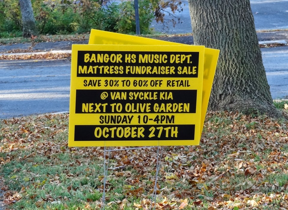 Bangor High School Fundraiser,Music Department,Mattress Sale