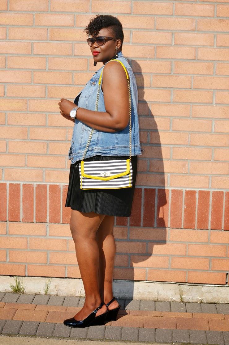 Fashion inspiration: Plus size Denim vest
