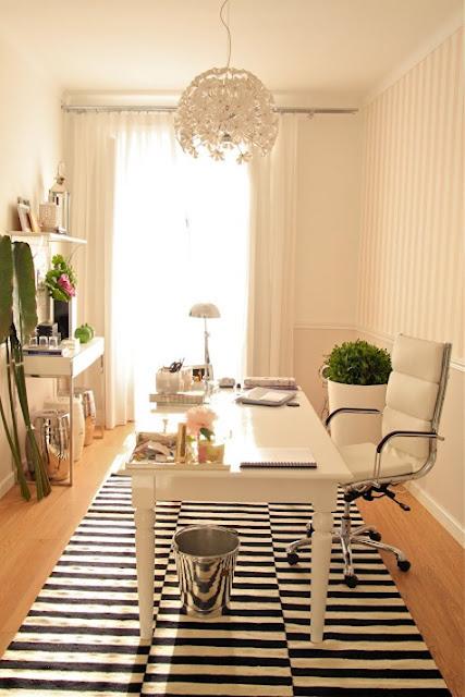 bold striped carpet