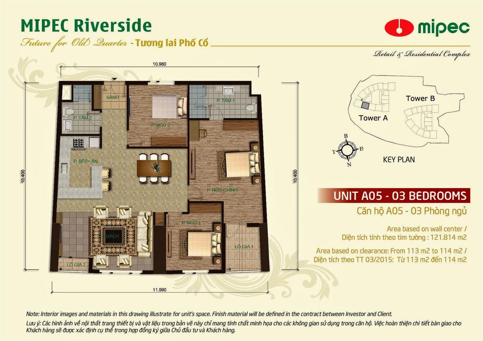 Căn A05 - 121m Mipec Riverside
