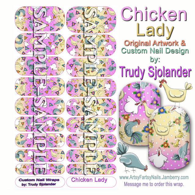 True\'s Gift\'s From the Heart: Chicken Lady Nail Art Wraps