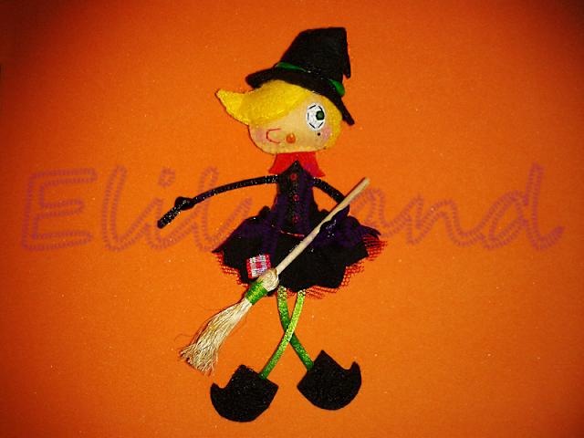 Muñeca Fieltro Bruja Mini-Elily