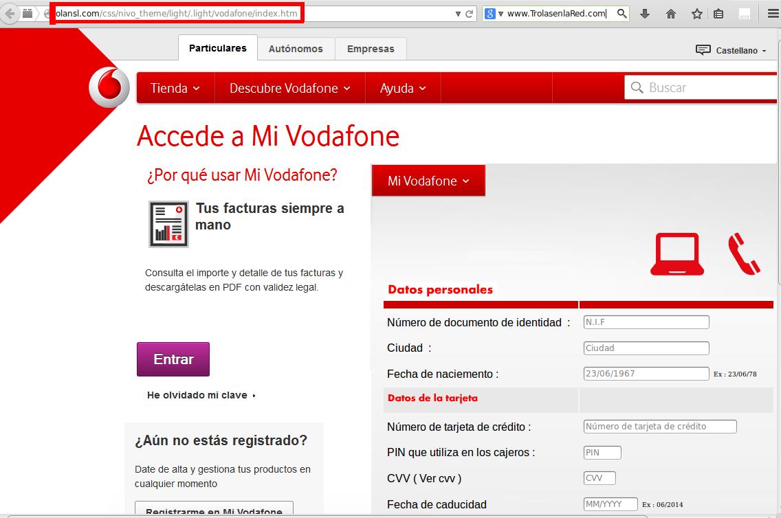 Phishing Vodafone