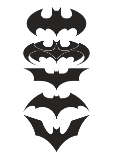 download Logo Batman (Design Black White) Vector