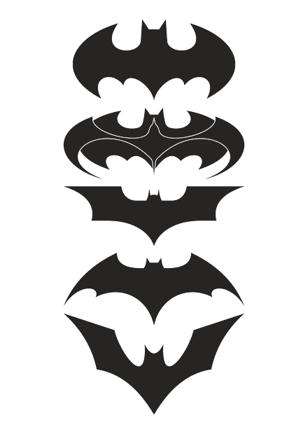 batman design part-2 logo vector