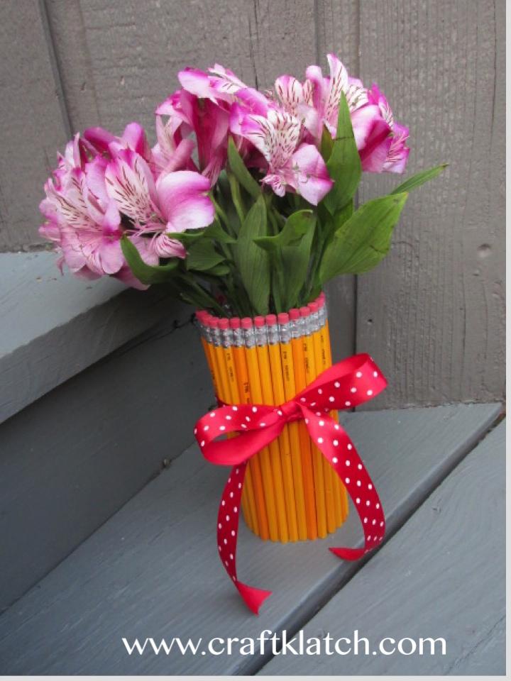 Craft Klatch Back To School Pencil Vase Craft Tutorial