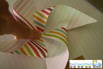 Handmade paper pinwheel simple