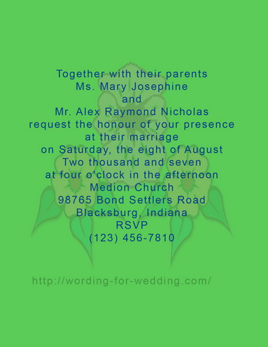 invitation terminology and wording beneath formal wedding invitation ...