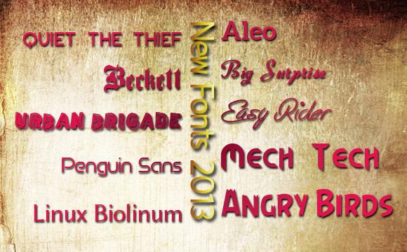 Fonts Extravaganza: 76 Fantastic Free Fonts of 2013
