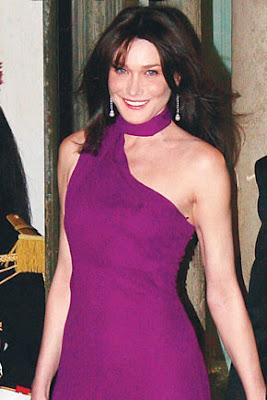 Carla Bruni Sarkozy wife of president Nicolas Sarkozy