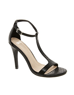 Asos heeled crocodile print sandals black heels online shop new spring