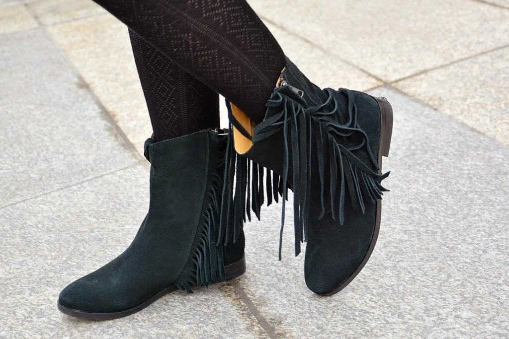 Buffalo black fringe boots, buffalo boots, fringe boots