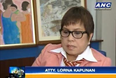 Lorna Kapunan quits as Napoles Lawyer