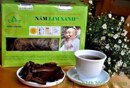 Nấm lim xanh loại nguyên cây của công ty TNHH Nông lâm sản Tiên Phước