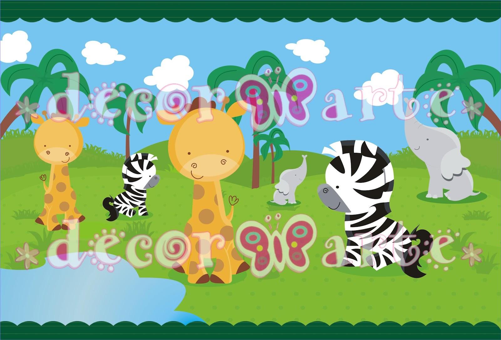 Cenefas infantiles de animalitos imagui - Cenefas decorativas para imprimir ...