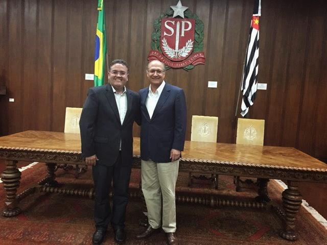 Roberto Rocha e Geraldo Alckmin