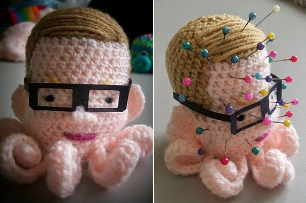 Michel Gove knitted pin cushion