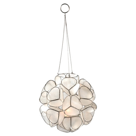 Iheart organizing a little glitz glam in the hallway - Capiz shell tealight holder ...