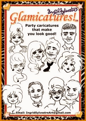 GLAMICATURES-TM Party caricatures that make you look good!