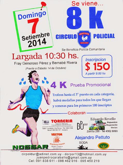 8k del Círculo policial de Durazno (07/sep/2014)