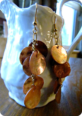shell earrings, DIY Jewellery, DIY Earrings, earrings from shells, Thailand