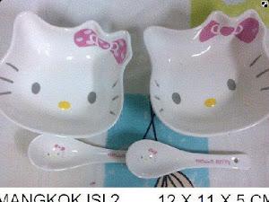 Mangkok Keramik Kepala Kitty