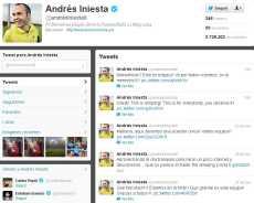 Twitter de Andrés Iniesta, mejor jugador de la Eurocopa 2012