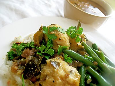 lentil dumplings with tamarind sauce