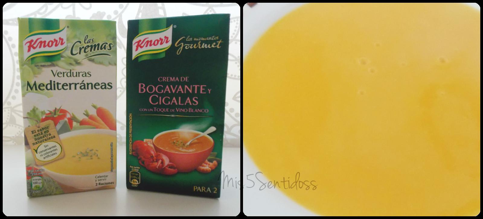 Degustabox Knorr crema de verduras mediterráneas y Bogavante