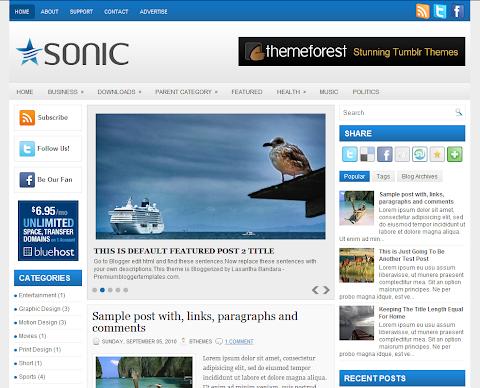 Sonic Blogger Theme
