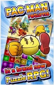 Pac-Man Monsters dengan versi arcade puzzle RPG.