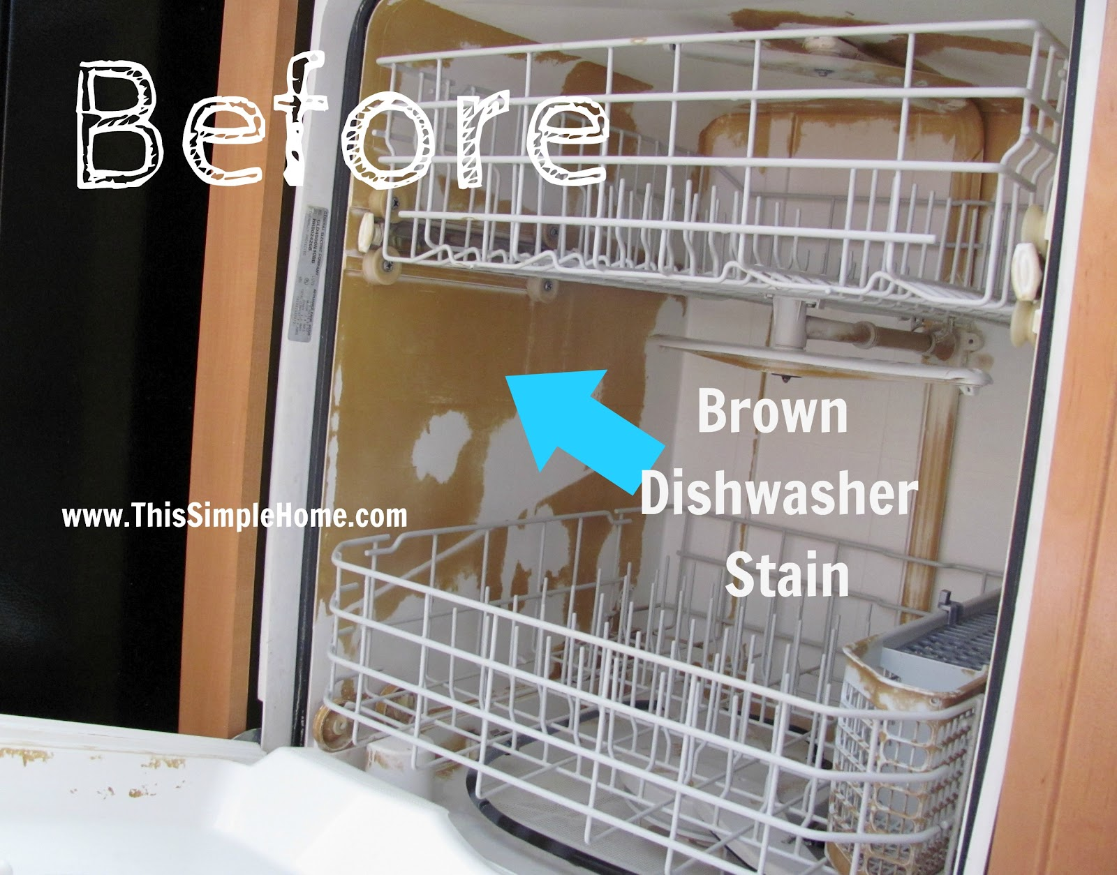 how to clear the dish washer
