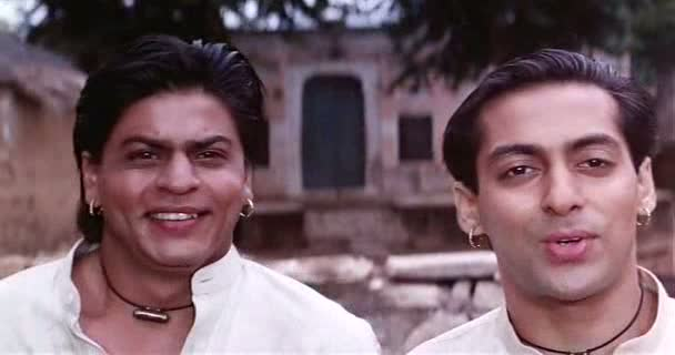 Screen Shot Of Hindi Movie Karan Arjun (1995) Download And Watch Online Free at worldfree4u.com