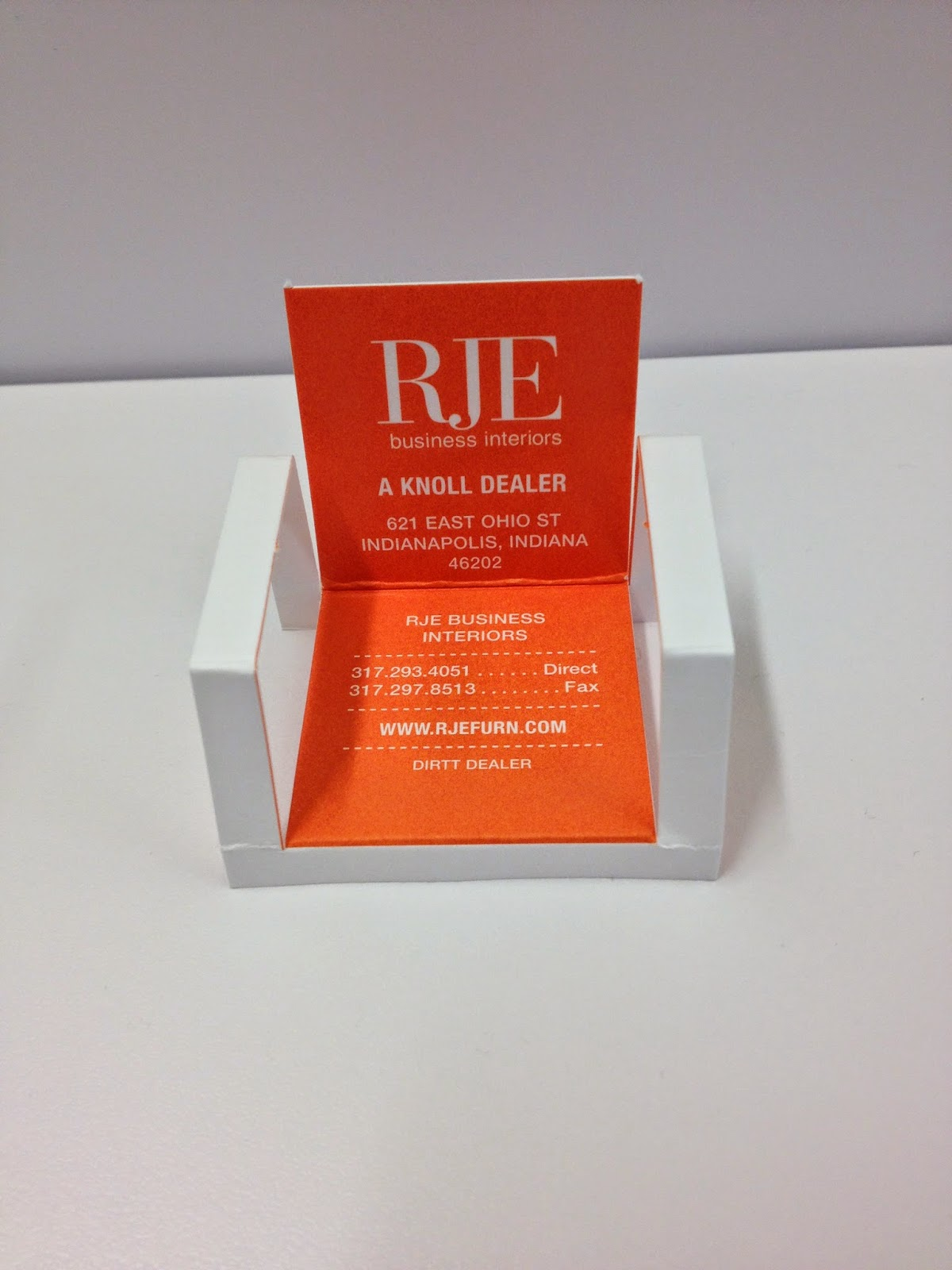 RJE Business Interiors: RJE New Business Card Design and Awards