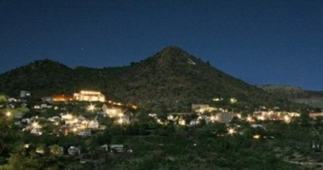 Night view of Jerome, Arizona