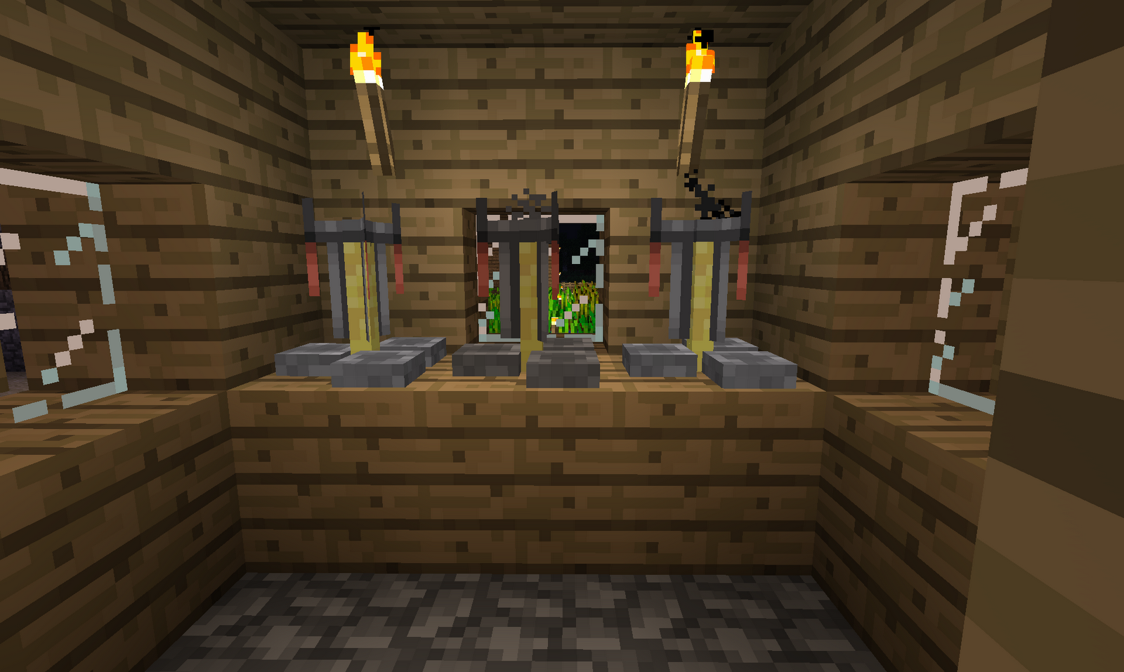 how to make appear back bar minecraft