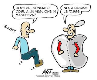 Apple, Tasse. equitalia, satira vignetta