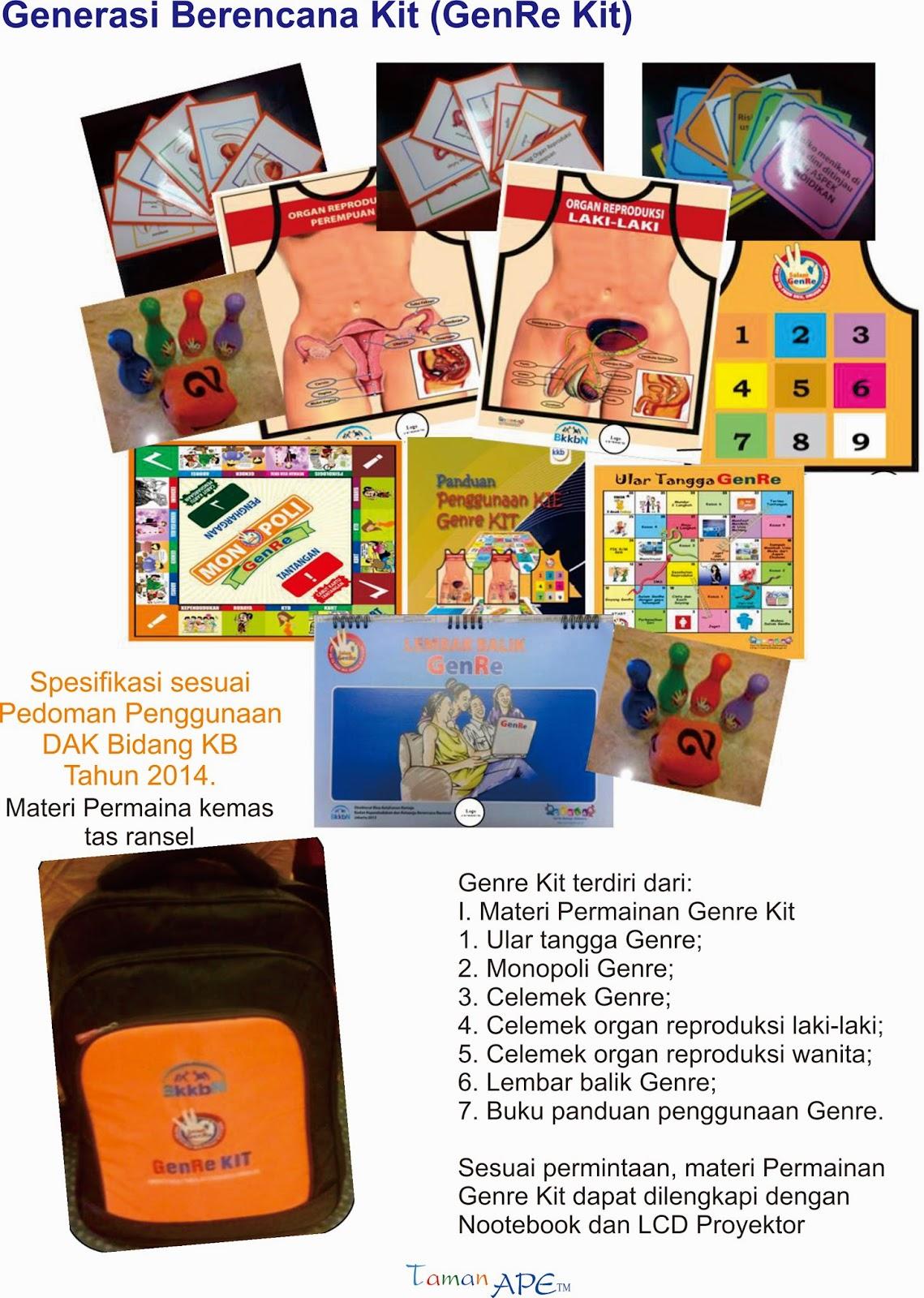 Lelang Genre KIT 2015 ~ Tender GENRE KIT BKKbN 2015 ~   Pengadaan genre Kit 2015