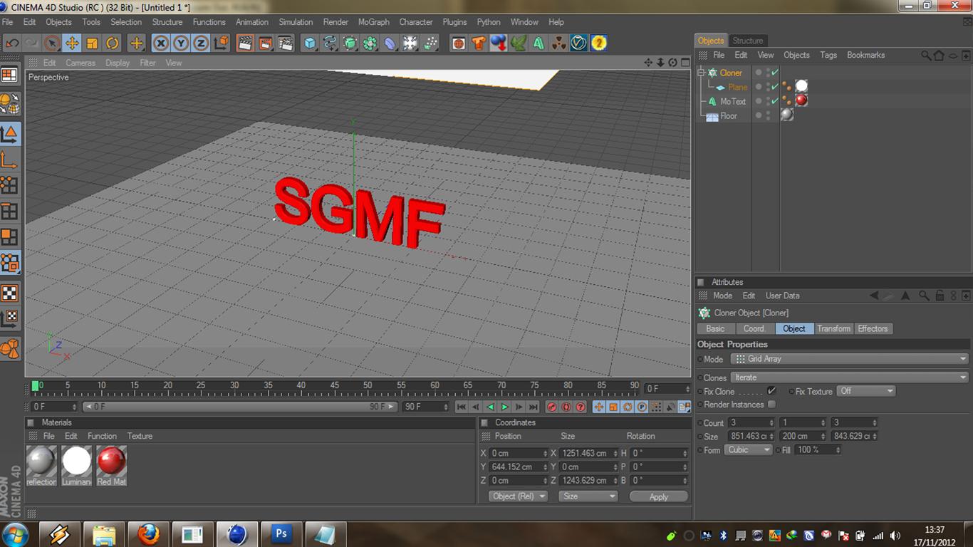 Dunia Desain TUTORIAL DASAR CINEMA 4D Membuat Text 3D