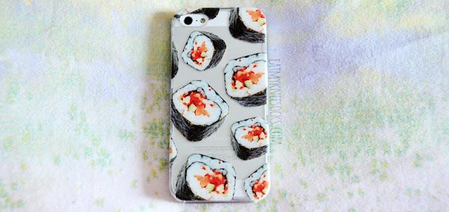 Clash Cases' sushi rolls printed phone case is quirky, fun, and absolutely delicious!