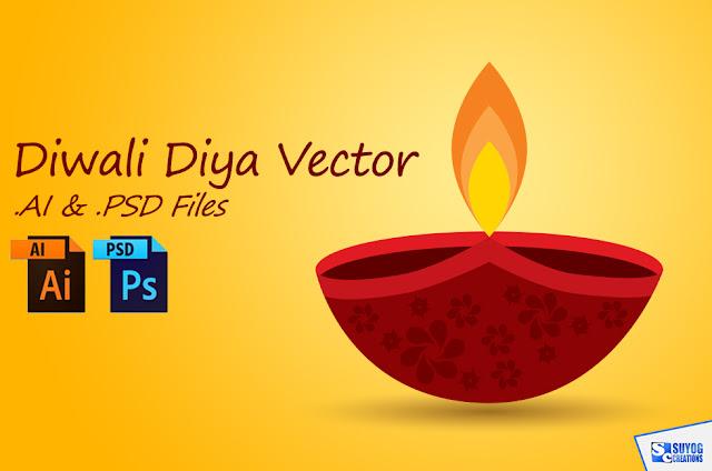 Diwali Diya Vector AI and PSD