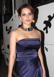Kangana Ranaut in Puple gown Spicy Pictures