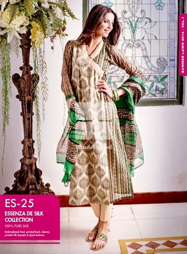 GulAhmed Silk Collection 2014