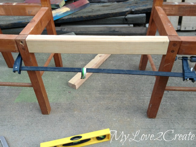 Using clamps to hold wood for drilling pocket holes